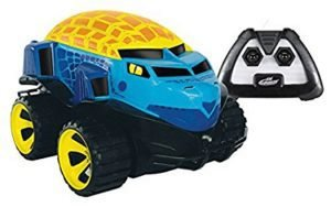A remote control toy which can drive on both land and water for kids 3,4,5 years old