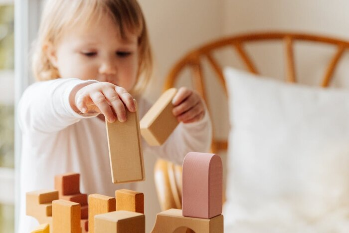 build blocks girl