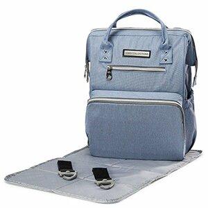 SoHo Designs WideOpen Diaper Backpack, Ocean Blue