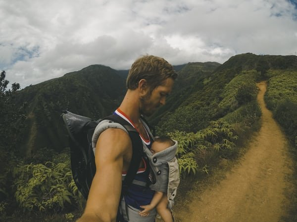 man carrier hike