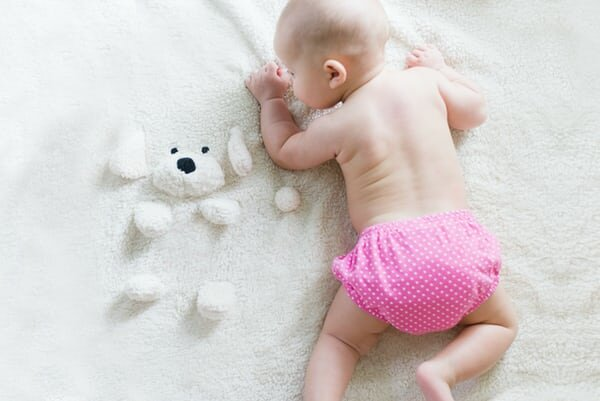 pink diaper stuffed toy