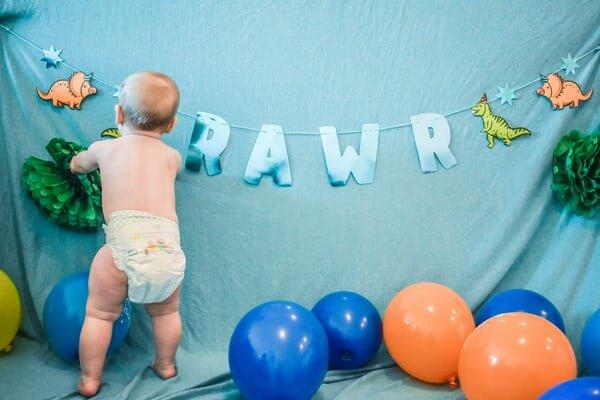 rawr diaper blue