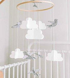 Sorrel & Fern Birds & Clouds Mobile