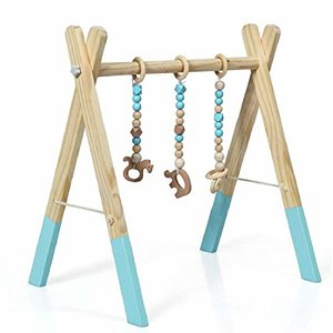 BABY JOY Portable Wooden Gym