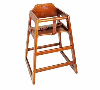 Winco CHH-104 Wooden High Chair, Walnut