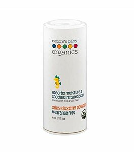 Nature's Baby Organics USDA Silky Dusting Powder, Fragrance Free
