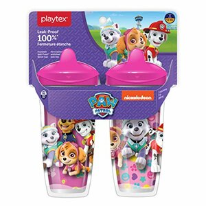 Playtex Sipsters Stage 3 Paw Patrol Sill-Proof Spout Cup, 2 Pack