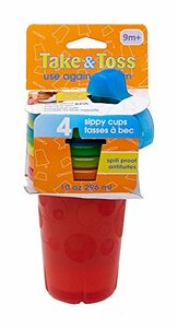 The First Years Take & Toss Spill-Proof Sippy Cups, 4 Count