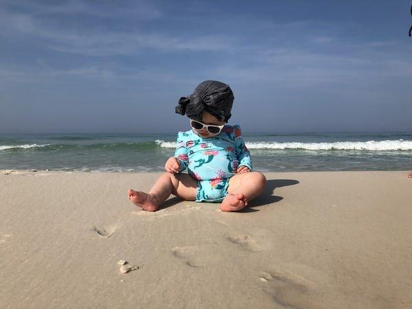 baby blue beach