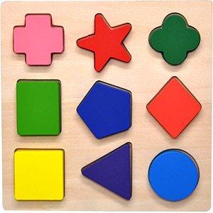 FYBBER&MUMU Wooden Preschool Shape Puzzle