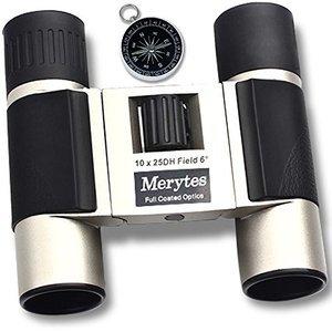 Merytes 10x25 Portable High Definition Binoculars with Compass
