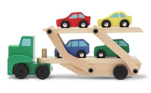 Melissa & Doug Car Carrier Truck and Cars Wooden Toy Set