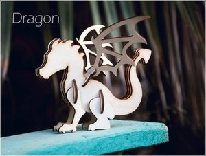 Decoloris Shop Dragon Wooden 3D Puzzle