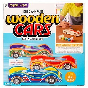 Made By Me Build & Paint Wooden Cars