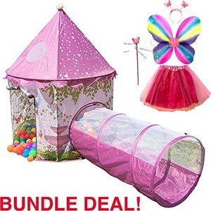 Playz 6-Piece Princess Castle Play Tent