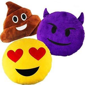 Joyin Toy 3 Pack Emoji Plush Pillows