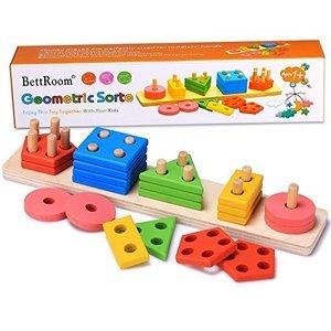 BettRoom Geometric Sorte Wooden Toy