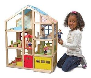 Melissa & Doug Hi-Rise Wooden Dollhouse