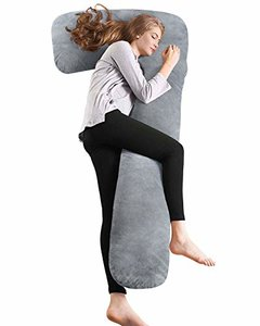 AngQi Full Body Pregnancy Pillow, L-Shaped