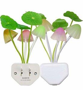 AUSAYE Mushroom LED Night Light, 2 Pack