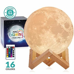 Mind-glowing 3D LED Moon Lamp