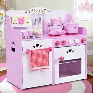 HONEY JOY Kitchen Play Set, Pink Strawberry
