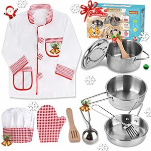 Meland Play Pots and Pans, Stainless Steel